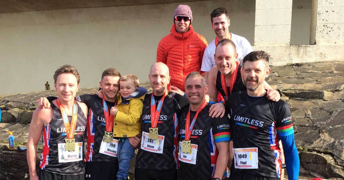 Six Toed Socks and Shemale Trainers ,Team Limitless at the Great North West Half Marathon